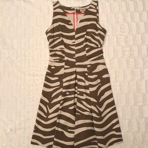 Banana Republic Issa London zebra print dress
